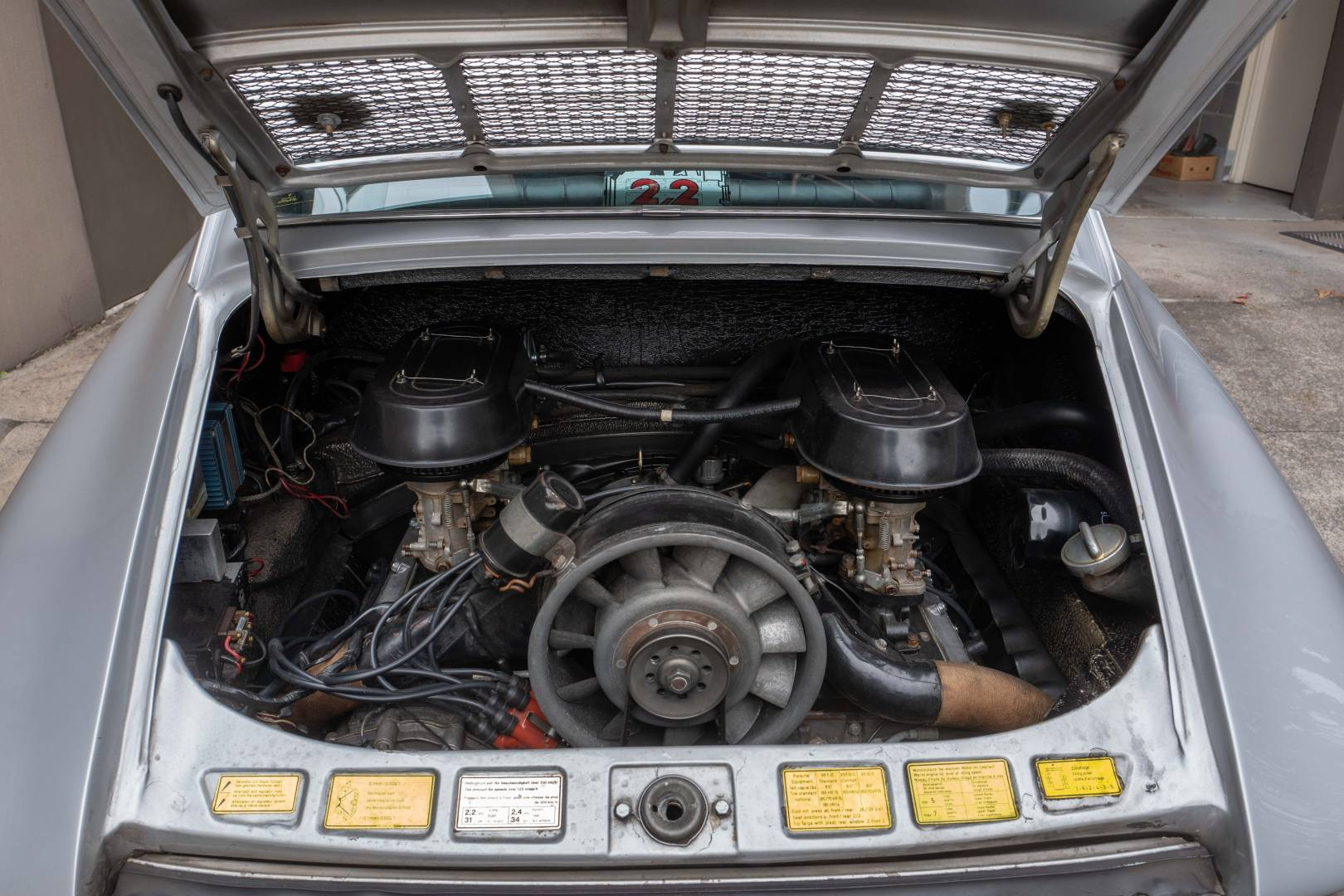 The restored engine bay as it is now