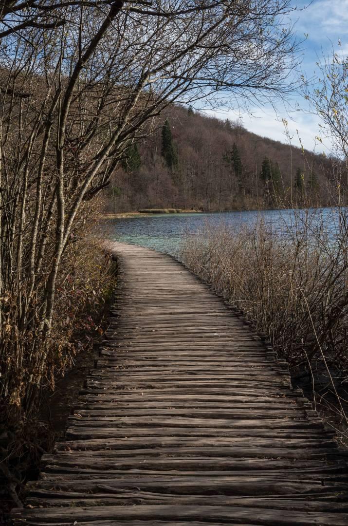 Back to the café on the boardwalk beside Prošćansko Lake