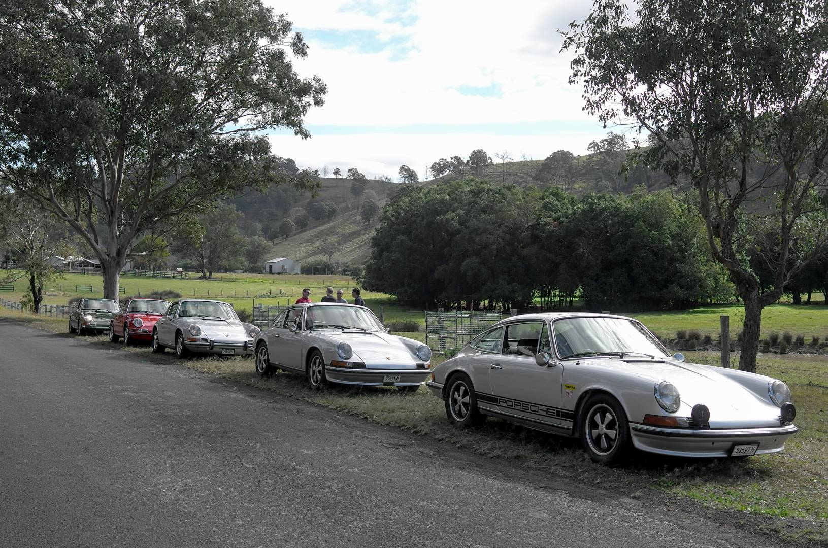 On a previous Road Trip – my 911 is the third back