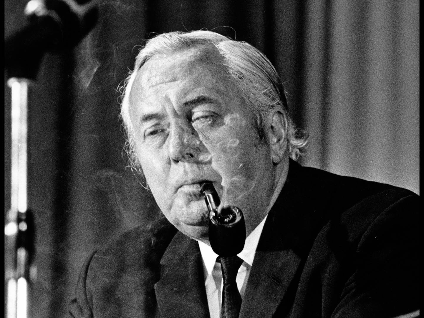 Harold Wilson, British prime minister from James Harold Wilson from 1964 to 1970 and 1974 to 1976 (©Don Morley)