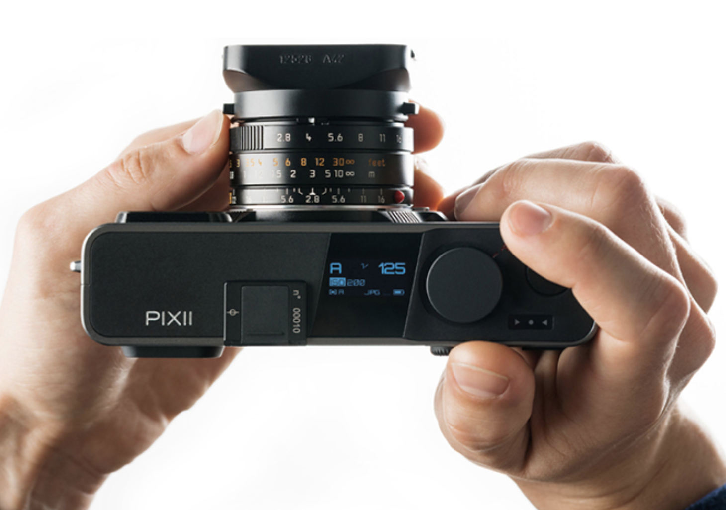 Minimalist controls, a useful status screen and a compact body make for a neat combination with smaller M lenses (all images from the Pixii website)