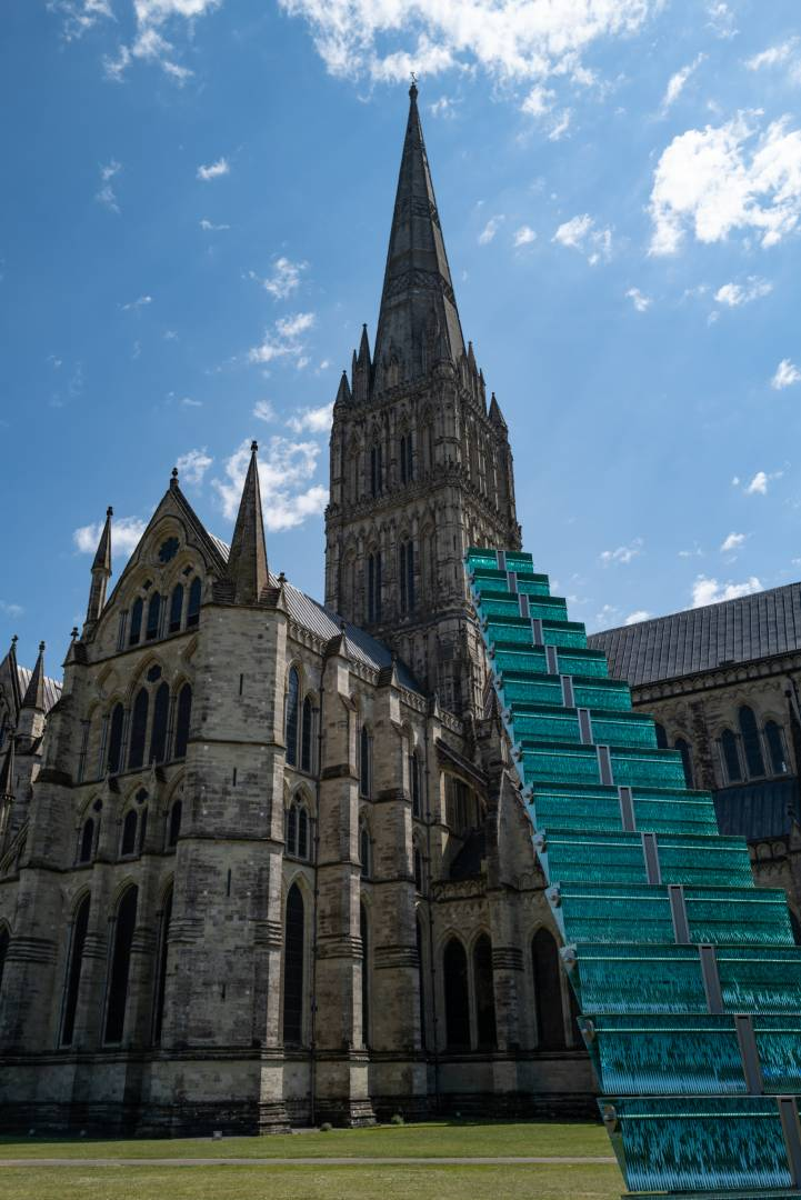 Stairway to Heaven as modern art meets the tallest spire in Britain