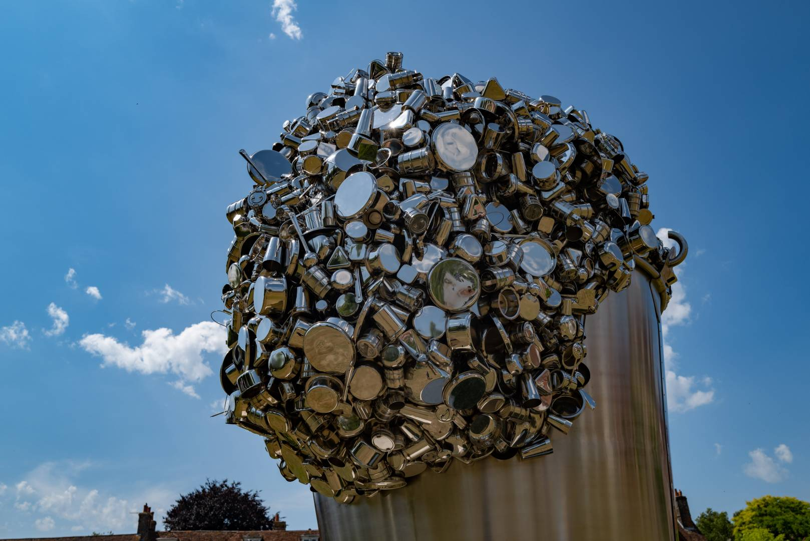 When Soak Becomes Spill by Subodh Gupta, 2008