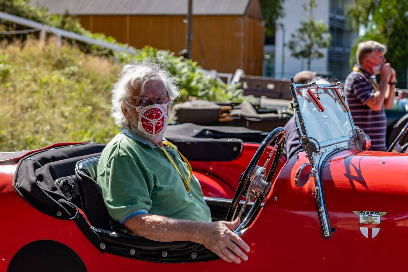 If you must wear a face mask, let it be an Austin 7 Club no-entry model