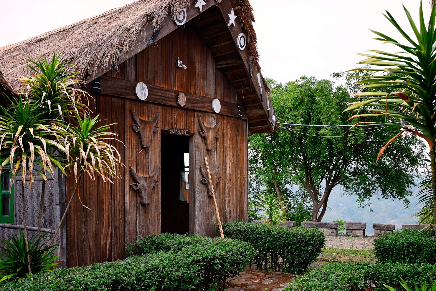 A traditionally styled cottage in the Tourist Village