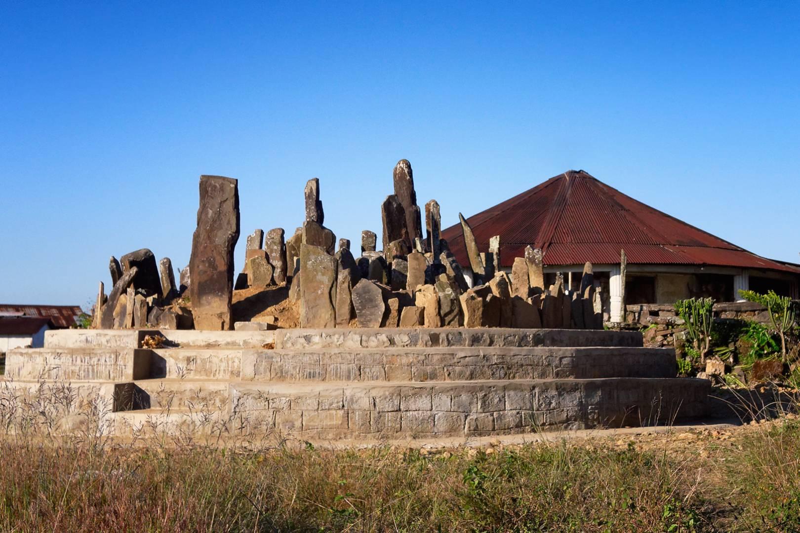 Burial stones in Chui village