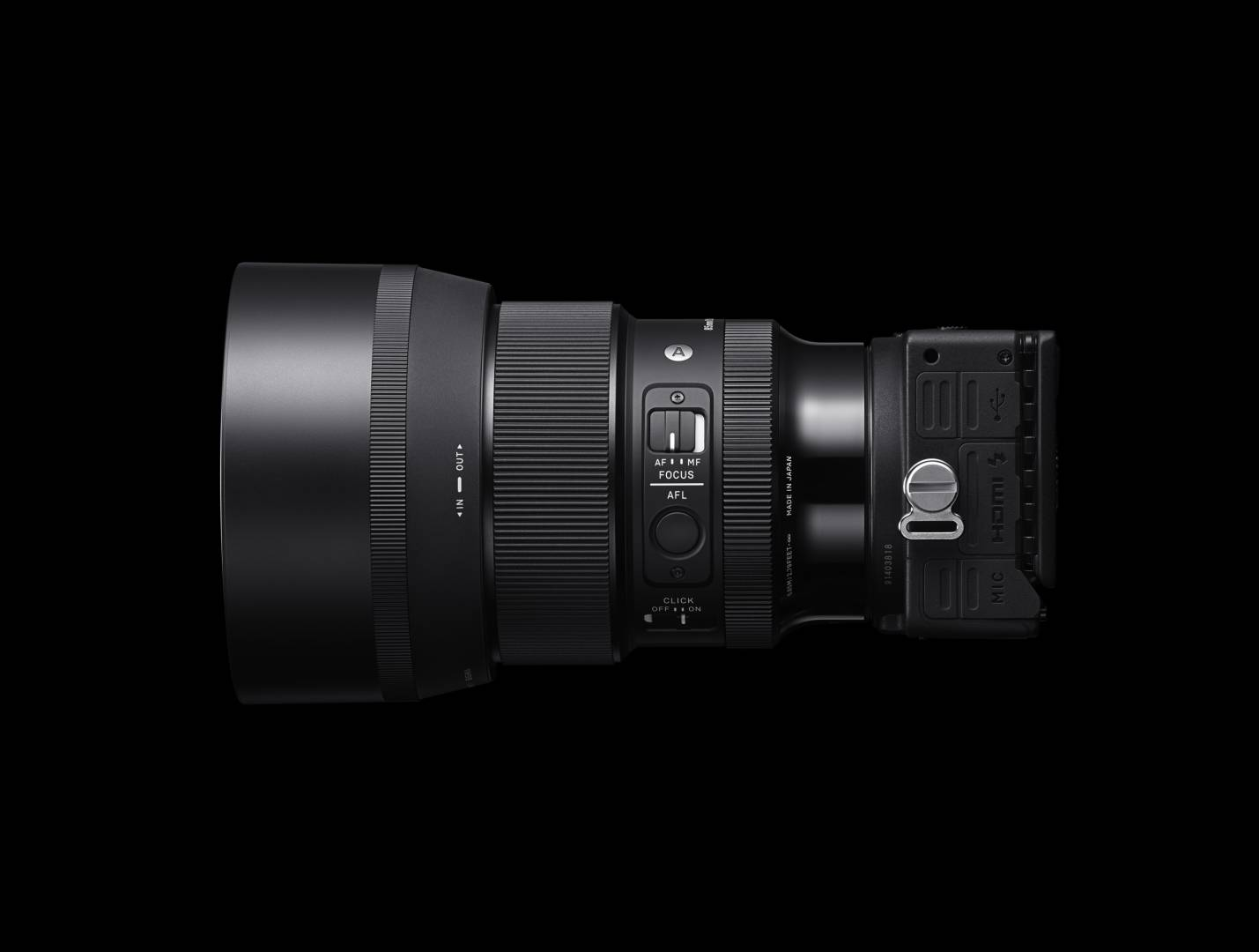 The new lens mounted on Sigma's compact fp camera
